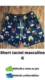 Short tactel masculino P M G e GG