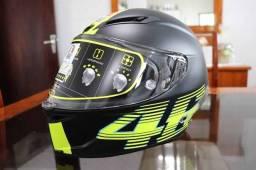 Capacete VR46 / ZERO / Embalado e com Acessórios Originais   Modelo Corsa R
