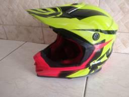 Capacete Motocross/ trilha ASW tam.56