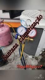 Instalação Recarrega higienização de ar condicionado