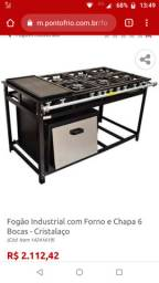 Vendo um fogão industrial com um mês de uso semi novo por 1,700