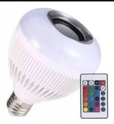 Lâmpada Bluetooth Com Controle Led