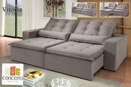 Maravilhoso Sofá de Luxo Retrátil e Reclinável