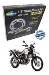 Título do anúncio: Kit Relação Yamaha Xt660 Xt 660 2018 Com Retentor Unifort