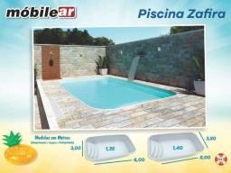 Piscina de Fibra 17.000 litros - 6,00 x 3,00 x 1,35