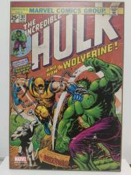 Quadro Marvel do Hulk e Wolverine - Importado USA