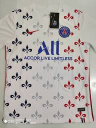 Camisa PSG Training Suit Branca Nike 20/21 - Tamanhos: M, G
