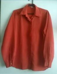 Camisa Feminina Laranja tam M 3dc791367c036