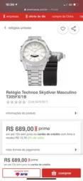 Relógio Technos Skydiver NOVO na caixa R$300,00