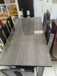 Mesa de Jantar MDF com 6 Cadeiras Novinha