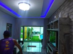 Casa nova 4 dormitórios, piscina, mobiliada troco por gado