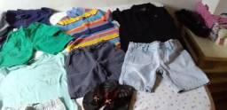Lotes de roupas masculinas infantis