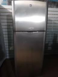 GE Inox 110v Frost free 410L super inteira
