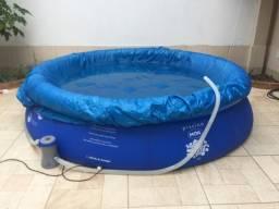 Vendo piscina 4.600 litros +capa+bomba