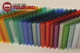 Chapas de policarbonato alveolar 4mm - 6,00 x 1,05 ou 3,00 x 2,10