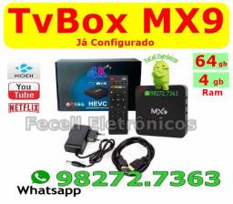Smartv Box - Mx9 4k 5G - 4GB Ram e 64GB TvBox