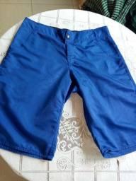 Bermuda tactel azul Tamanho 42