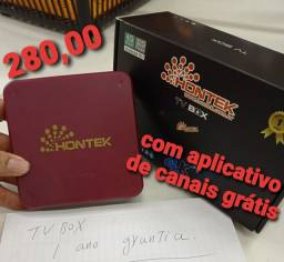 Conversor tv Box Smart ? 4kb32 gb 4gb pro homitek Android 10.1 com Aplicativo de canais