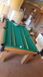 Mesa Tentação Pgto na Entrega Cor Cerejeira Tecido Verde Mod. QSTZ2432