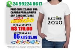 KIT 10 camisas para sua campanha eleitoral eleições 2020