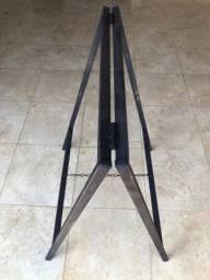 Cavalete Placa (metalon) anúncio 80x80cm