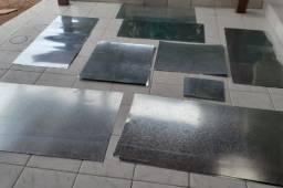 Chapas de aço galvanizado - várias medidas