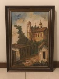 Quadro Pintura a Óleo (Igreja na Zona Rural de Ouro Preto/MG)