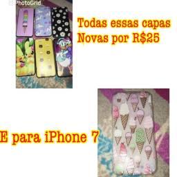 Capas para iPhone 7 todas novas todas por R$25