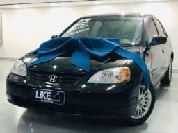 Honda Civic EX 1.7 Aut. 2001/2002 Bancos de Couro