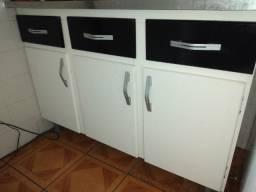 Armario Pia e aéreo cozinha