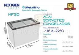 Título do anúncio: Freezer Tampa de Vidro para Sorvetes ou Congelados Metalfrio