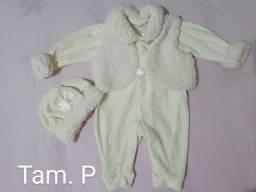 Macacão bebê  menina tamanho  P