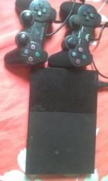 Playstation2) 2controles cabos conpletos por 250