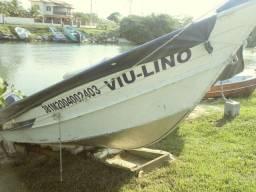 Barco alumínio 5 mts com motor yamaha 25hp
