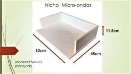 Nicho para Micro-ondas em MDF15mm Branco TX.