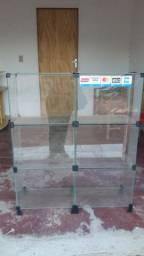 Balcao vidro + painel semi novo pr vender logo