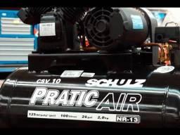 Compressor De Ar Schulz Csv Pratic Air 10 Pes 100 L 2hp Mono