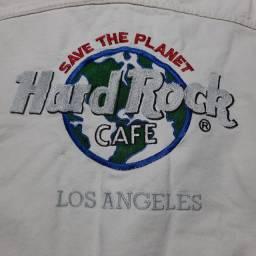 Jaqueta Jeans Branco Hard Rock Café. Los Angeles.  Usada.