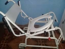 Cadeiras de banho Rodas reclinável