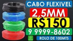 Rolos de cabo Fio flexível 2,5mm