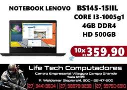 Título do anúncio: Notebook Lenovo Bs145-15iil Intel Core I3 1005g1 4gb 500gb 15.6   i3 Décima Geração