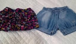 Short Saia e Short Jeans Tamanho 8