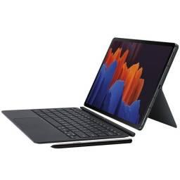 Galaxy Tab S7+ Plus 12.4 128gb Com S-pen e Capa teclado Original