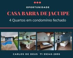 Não perca:  condomínio, 4 Quartos, 01 suíte máster, closet, 408 m², em Barra do Jacuipe