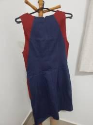 Vestido social azul marinho usado