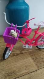 Bicicleta para Barbie de brinquedo