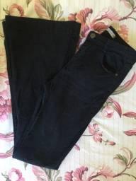 Calça Jeans Flare Preta 38 - Vendas da Carol