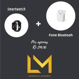 Smartwatch + Fone Bluetooh