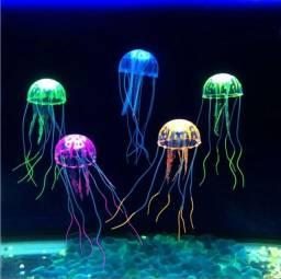 Enfeite aquário medusa silicone