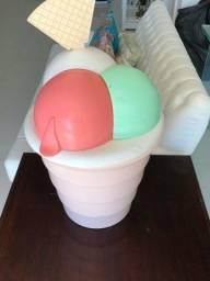 Lixeira sorvete